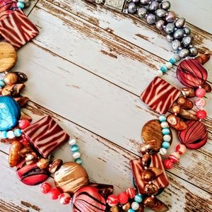Jewelry - Colorful Artisan Freshwater Pearl Necklace